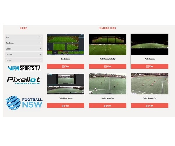 Pixellot, VPA Technologies and Football NSW Launch Streaming Service at Sydney's Valentine Sports Park